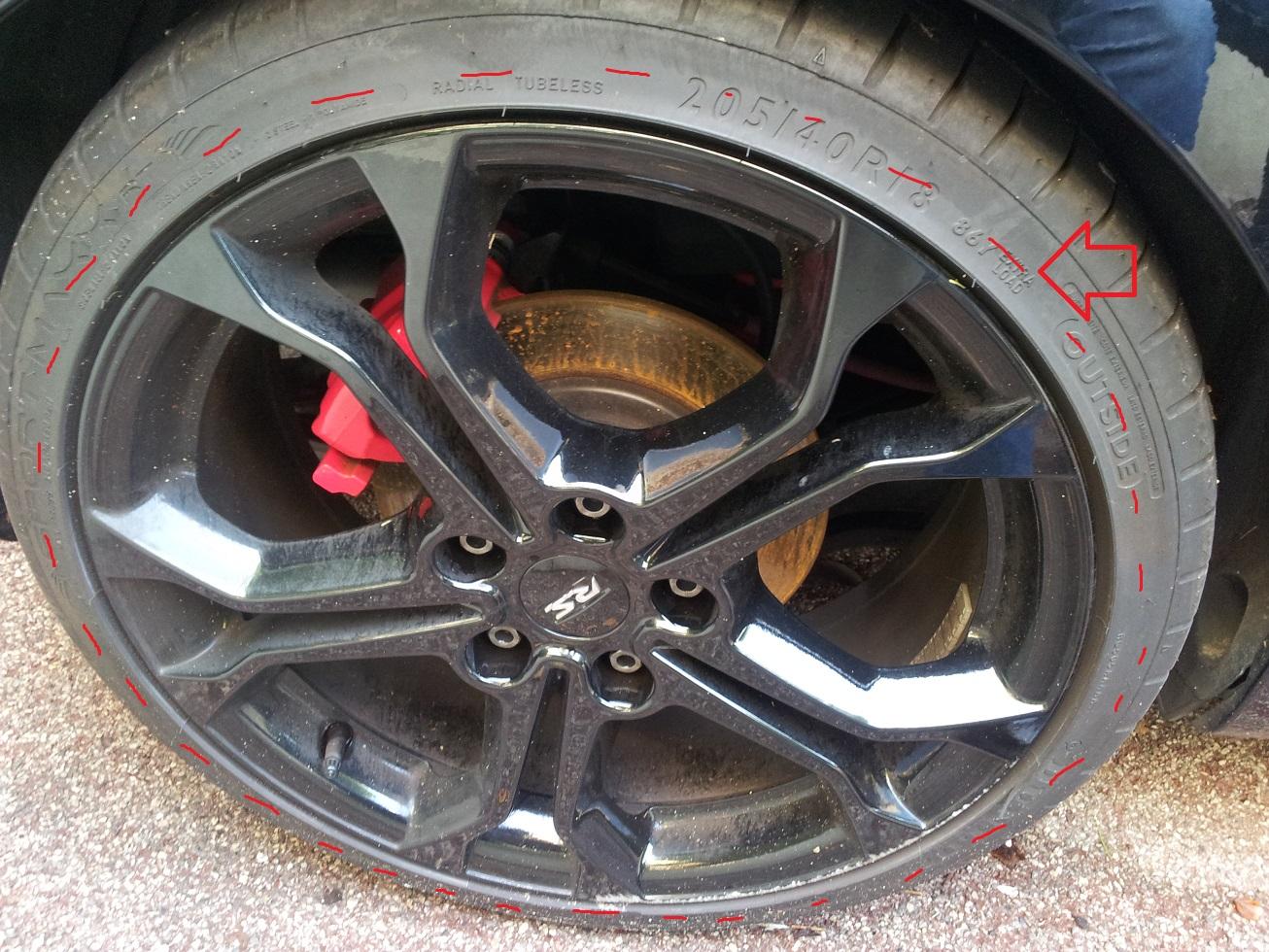 V rifications ext rieures pour le permis les le ons for Usure pneu exterieur avant